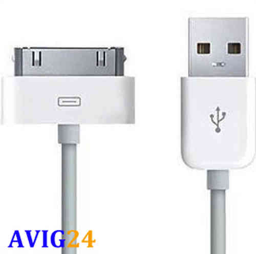 USB Kabel / Ladekabel 100cm für ipod iphone 4 3 USB 2.0 Datenkabel PC NEU!