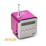 Music Player Angel mini Lautsprecher Akku Speaker Radio FM USB Micro SD Pink MP3