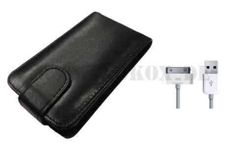 Iphone 3G / 3GS Ledertasche + Daten - Ladekabel