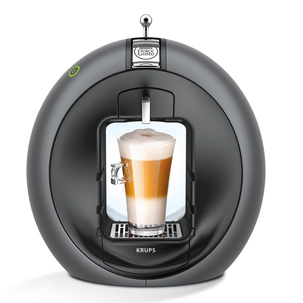 Krups KP5000 Dolce Gusto Circolo Kapselautomat Kaffeemaschine Charcoal Grey OVP